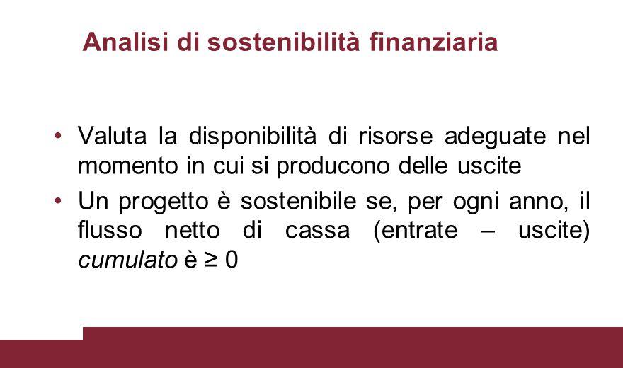 Analisi di sostenibilità finanziaria