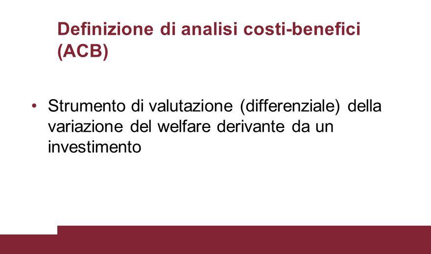 Definizione di analisi costi-benefici (ACB)