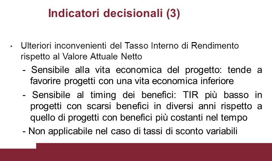 Indicatori decisionali (3)