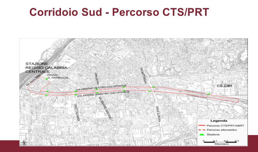 Corridoio Sud - Percorso CTS/PRT