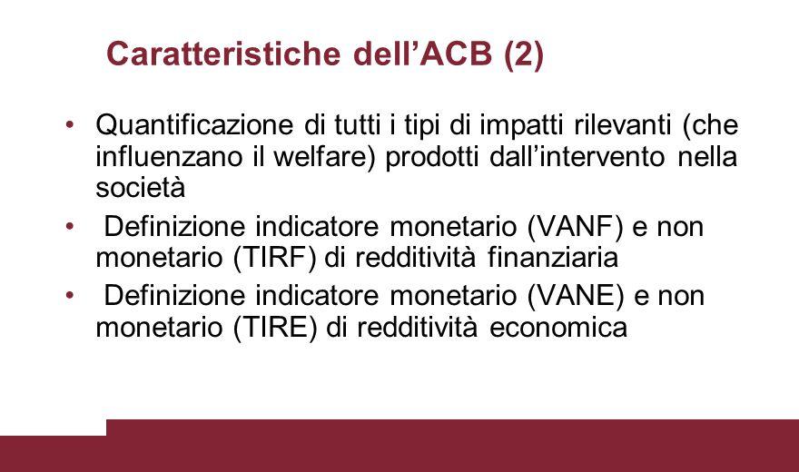 Caratteristiche dell'ACB (2)