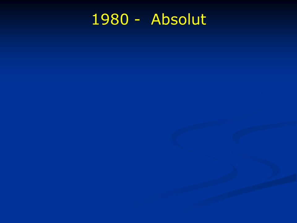 1980 - Absolut