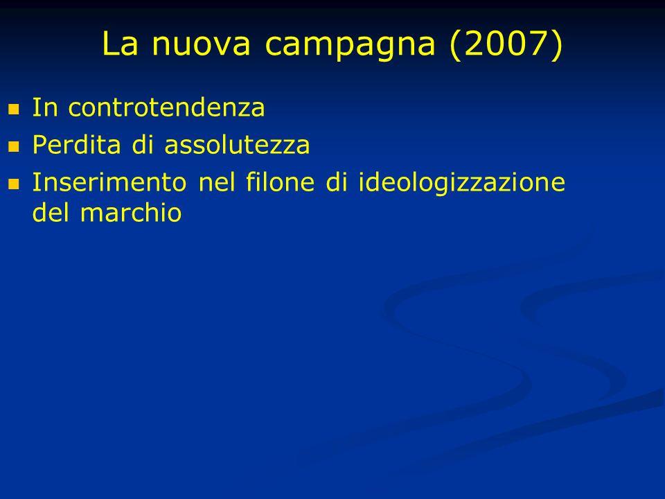 La nuova campagna (2007) In controtendenza Perdita di assolutezza