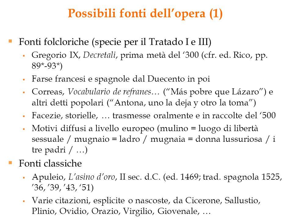 Possibili fonti dell'opera (1)