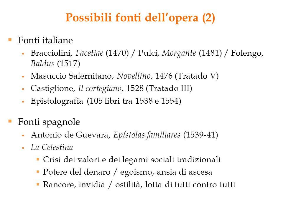 Possibili fonti dell'opera (2)