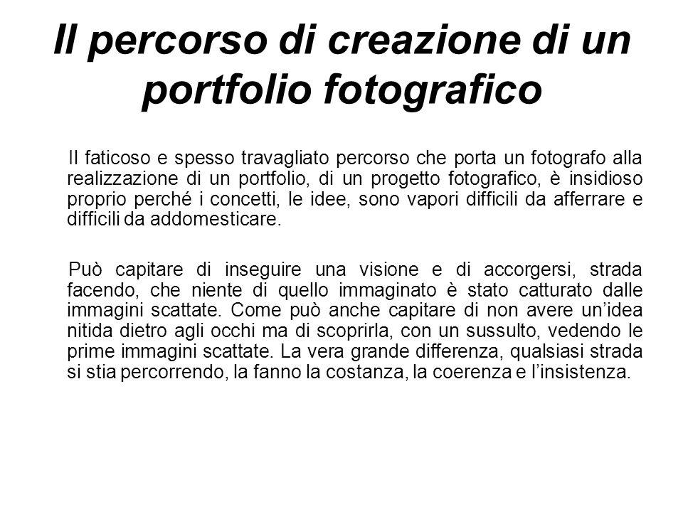 Il percorso di creazione di un portfolio fotografico