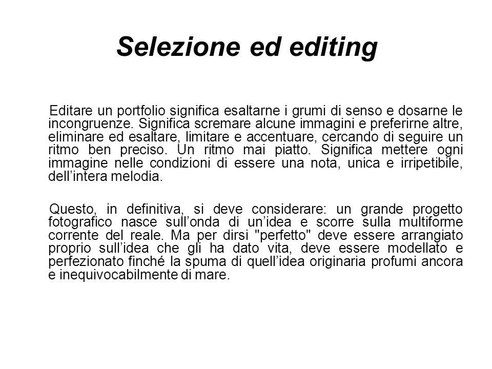 Selezione ed editing