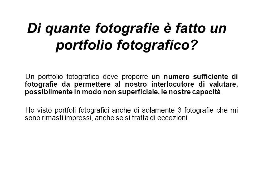 Di quante fotografie è fatto un portfolio fotografico