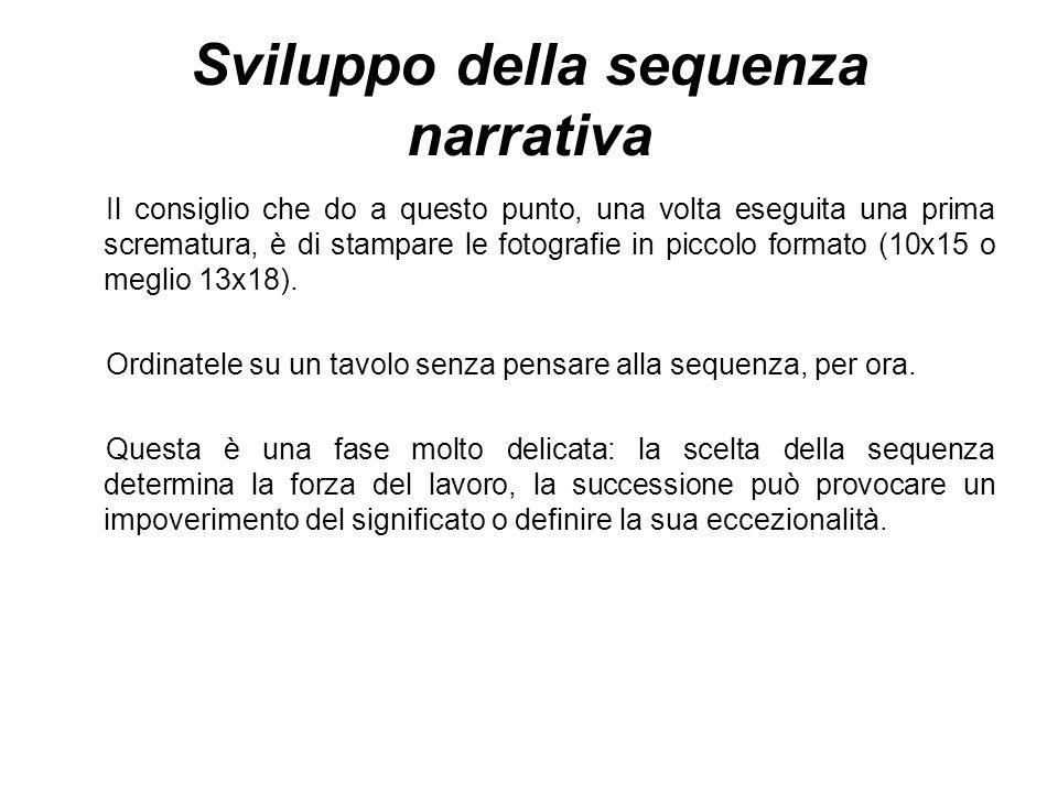 Sviluppo della sequenza narrativa