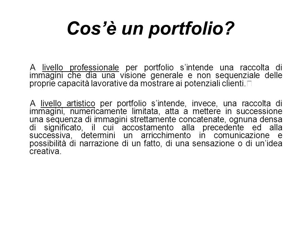 Cos'è un portfolio