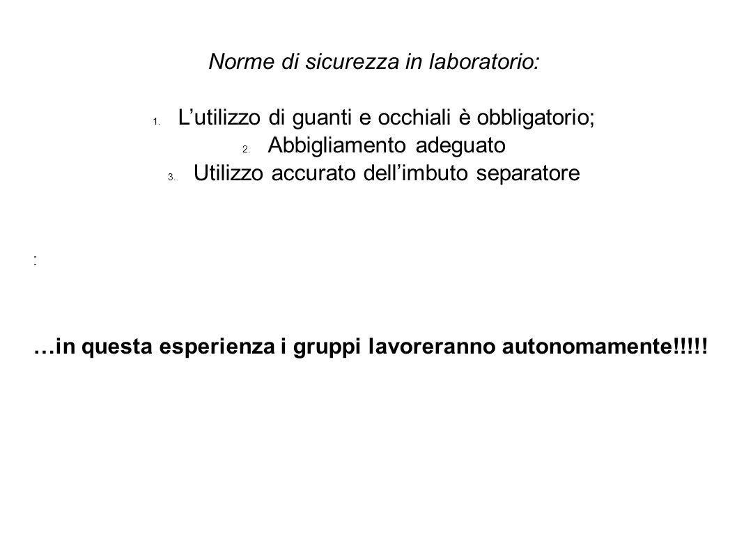 Norme di sicurezza in laboratorio: