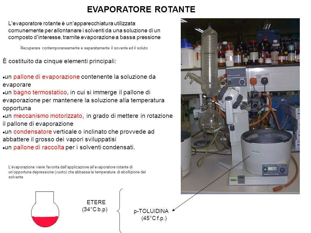 EVAPORATORE ROTANTE È costituito da cinque elementi principali: