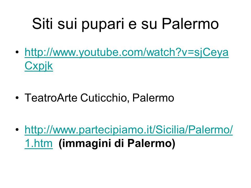 Siti sui pupari e su Palermo