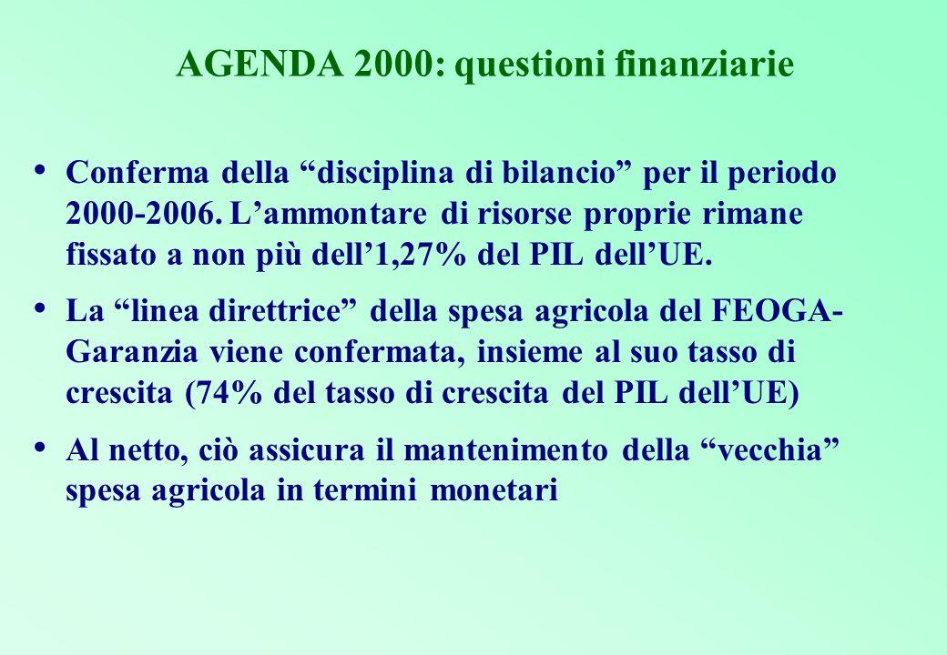 AGENDA 2000: questioni finanziarie