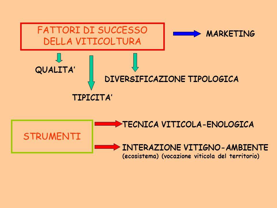 FATTORI DI SUCCESSO DELLA VITICOLTURA
