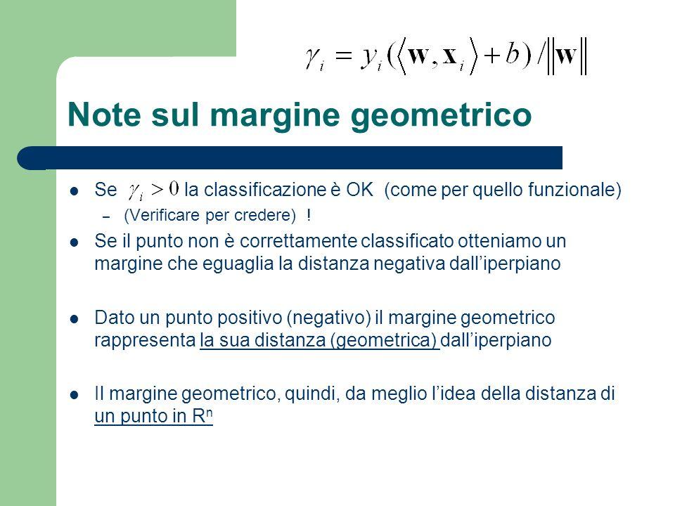 Note sul margine geometrico
