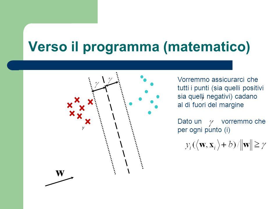 Verso il programma (matematico)
