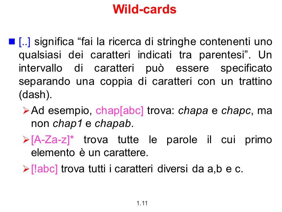 Wild-cards