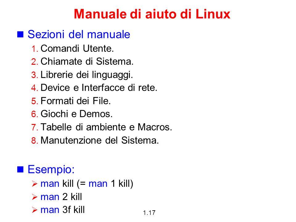 Manuale di aiuto di Linux
