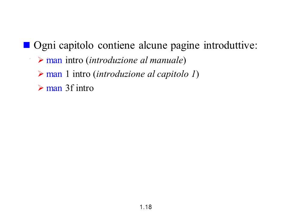 Ogni capitolo contiene alcune pagine introduttive: