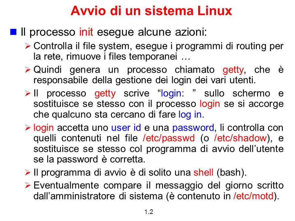 Avvio di un sistema Linux