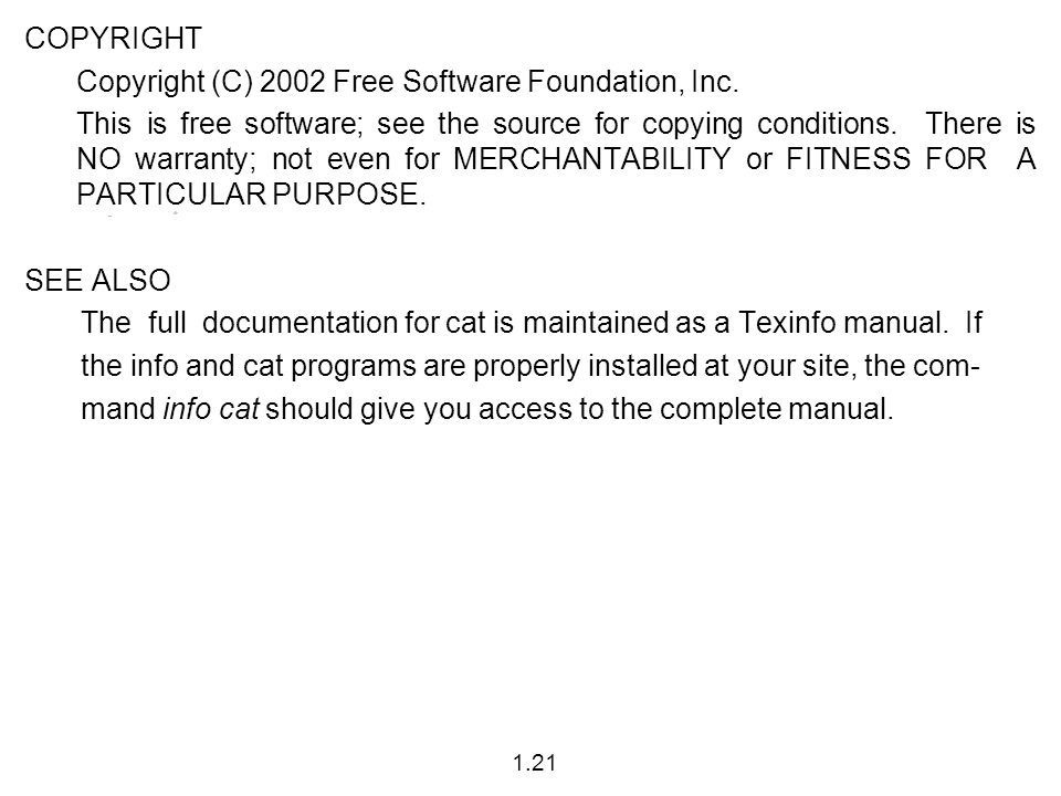 COPYRIGHT Copyright (C) 2002 Free Software Foundation, Inc.