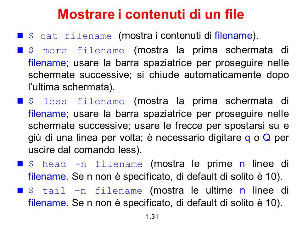 Mostrare i contenuti di un file
