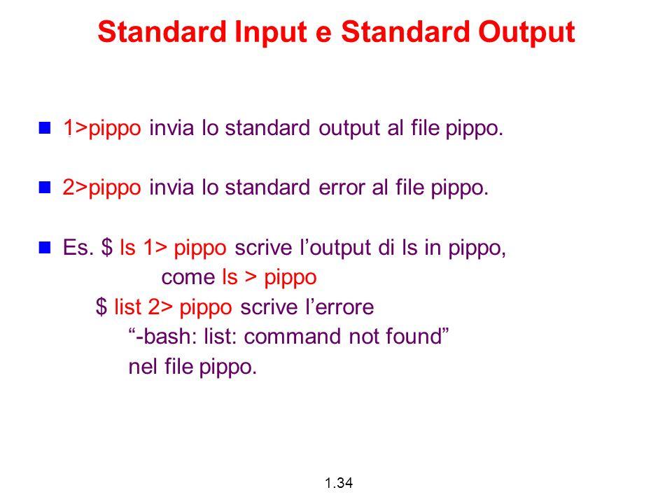 Standard Input e Standard Output