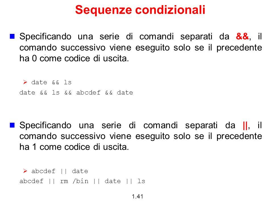 Sequenze condizionali