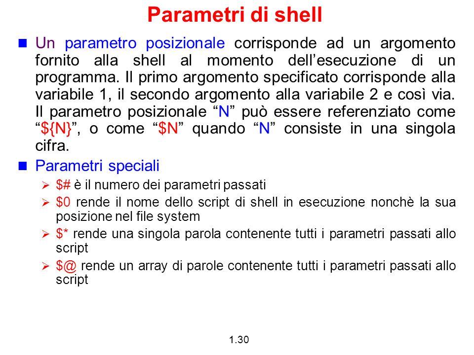 Parametri di shell