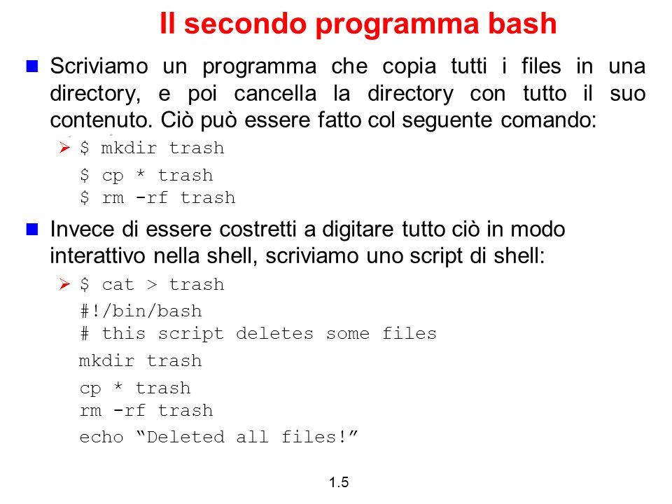 Il secondo programma bash