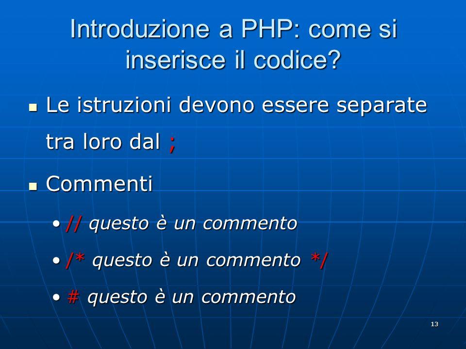 Introduzione a PHP: come si inserisce il codice