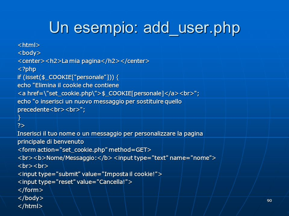 Un esempio: add_user.php