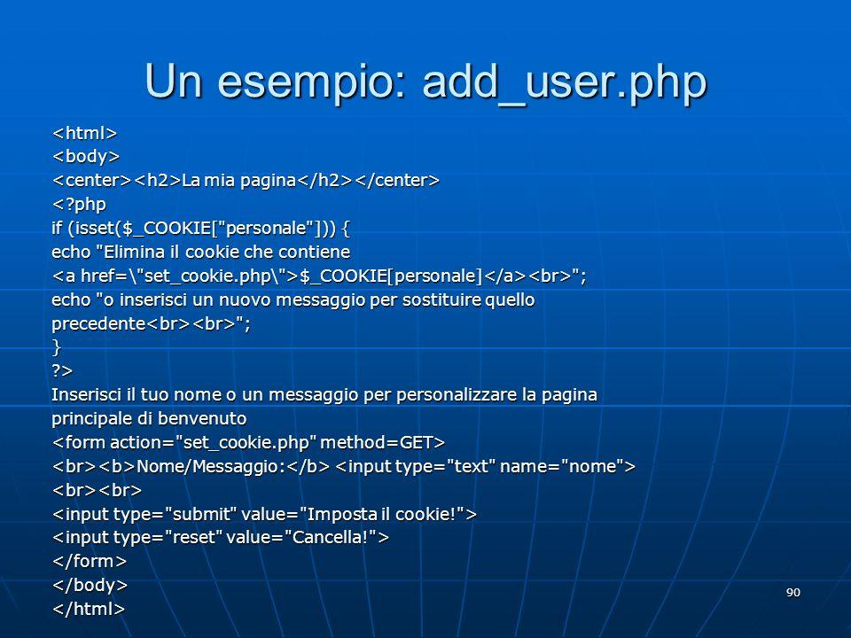 Un esempio: add_user.php