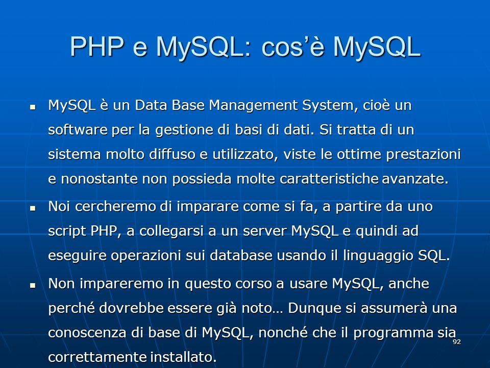 PHP e MySQL: cos'è MySQL