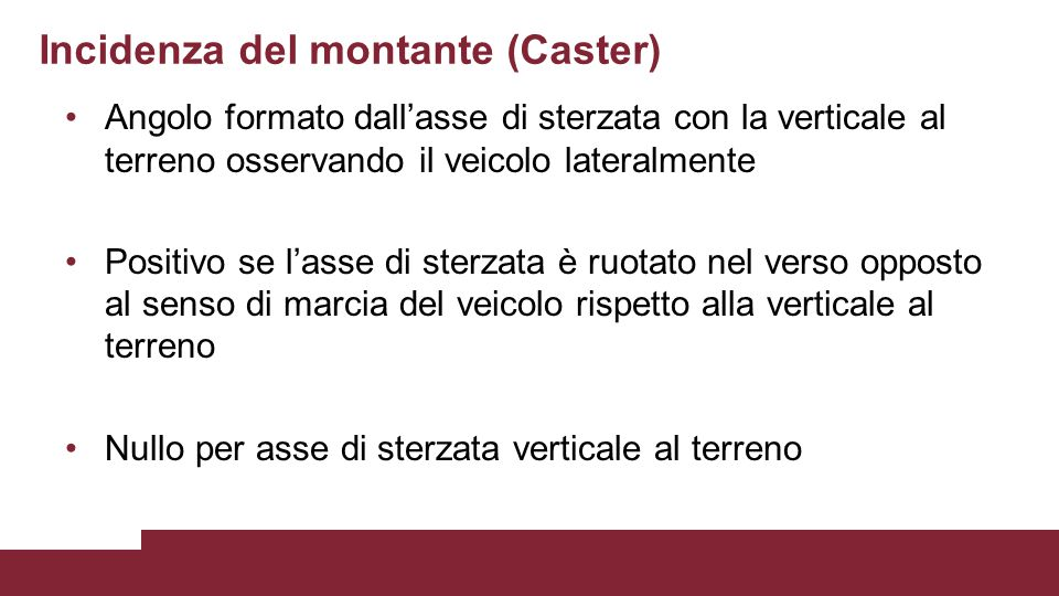 Incidenza del montante (Caster)