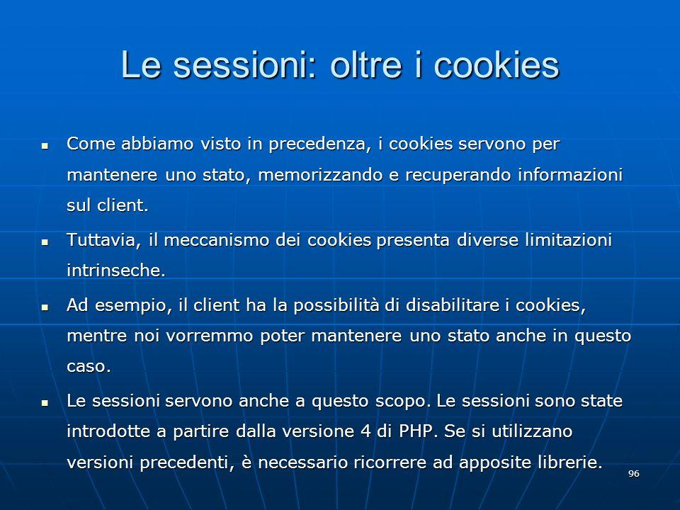Le sessioni: oltre i cookies