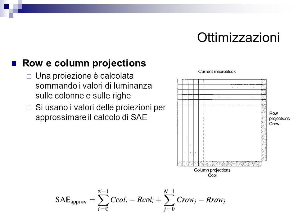 Ottimizzazioni Row e column projections