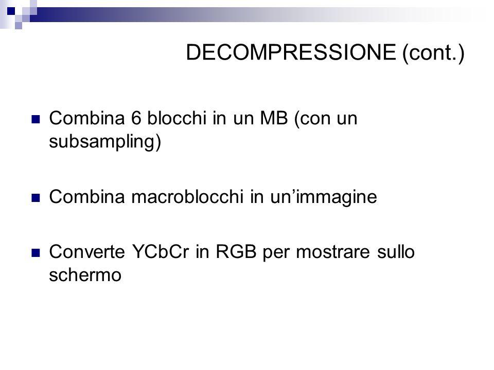 DECOMPRESSIONE (cont.)
