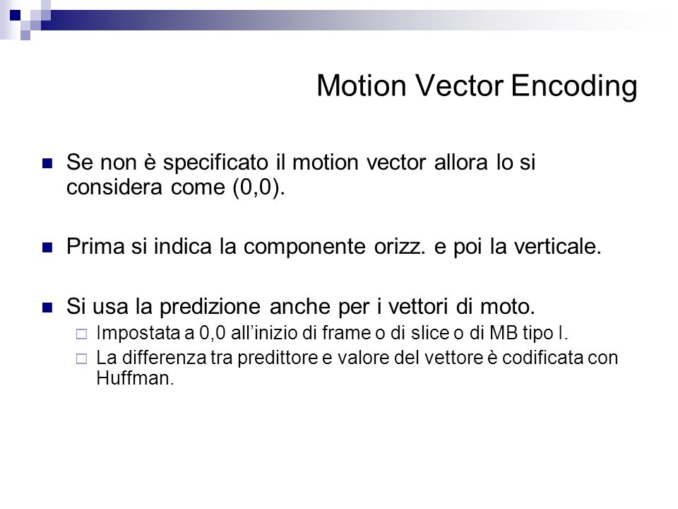 Motion Vector Encoding