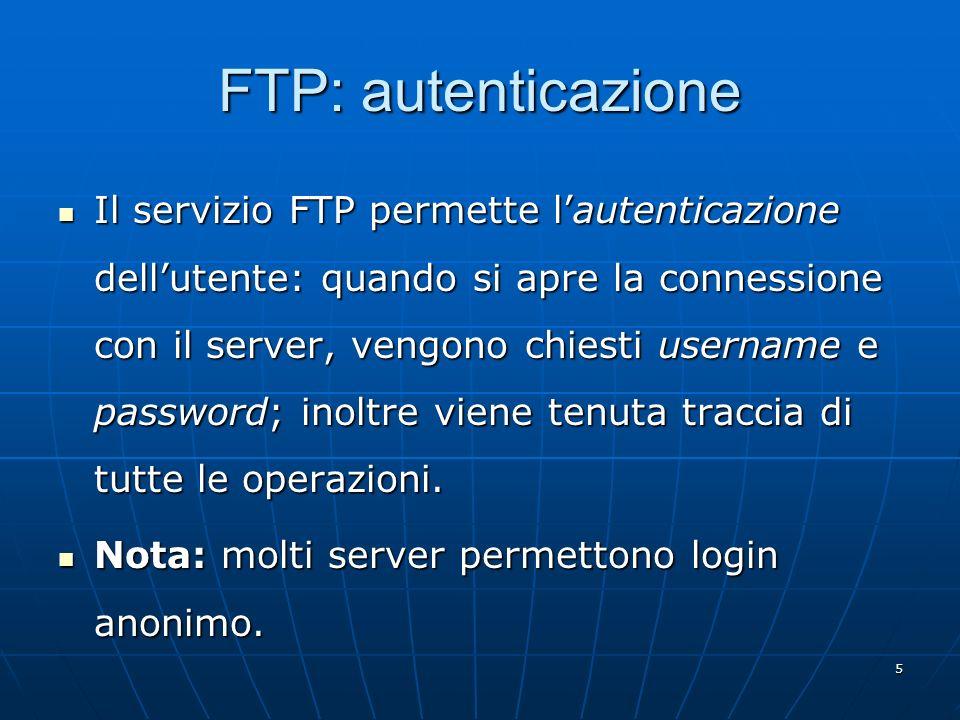 FTP: autenticazione