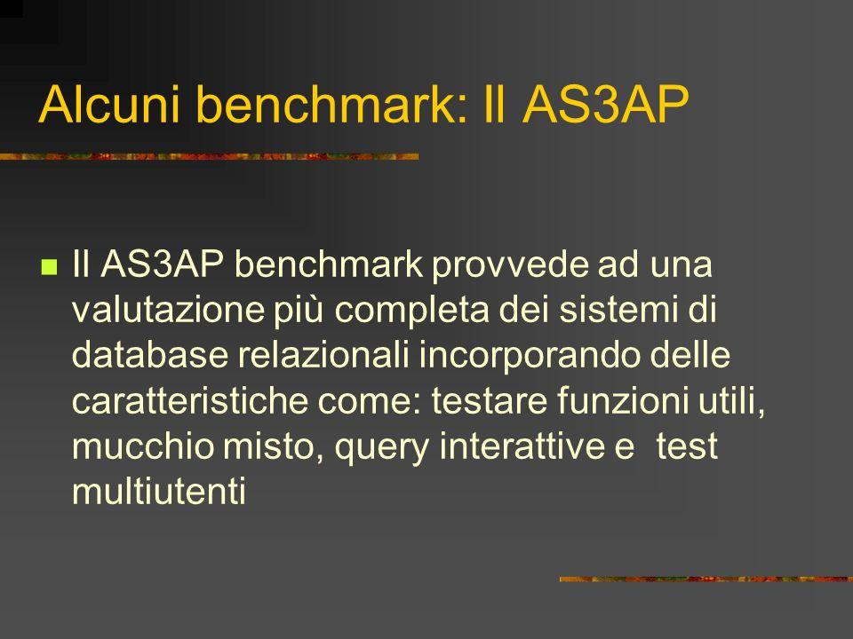 Alcuni benchmark: Il AS3AP