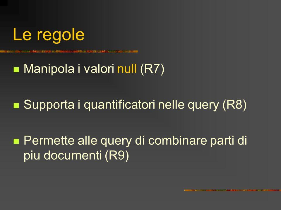 Le regole Manipola i valori null (R7)