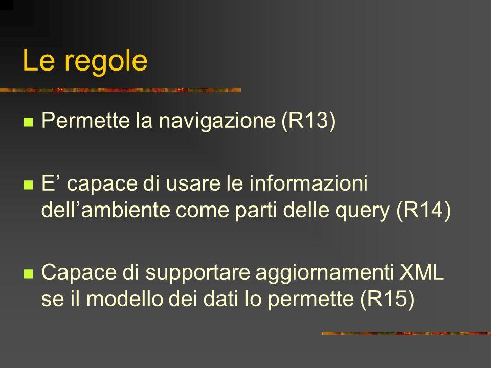 Le regole Permette la navigazione (R13)