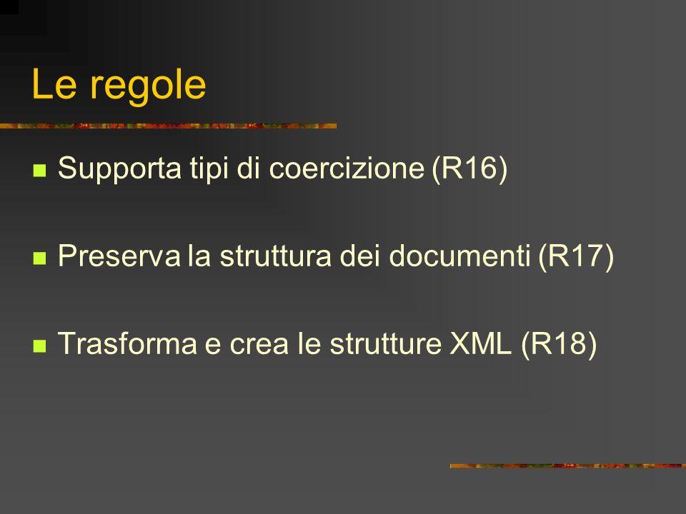 Le regole Supporta tipi di coercizione (R16)