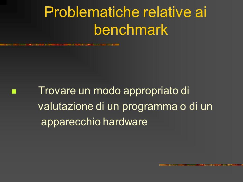 Problematiche relative ai benchmark