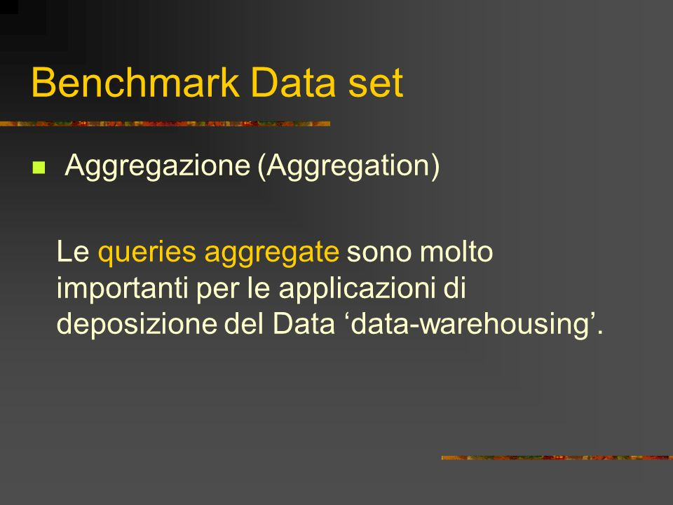 Benchmark Data set Aggregazione (Aggregation)