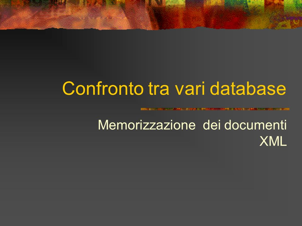 Confronto tra vari database