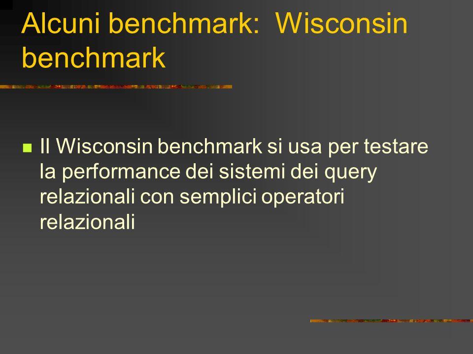 Alcuni benchmark: Wisconsin benchmark