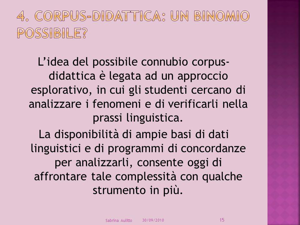 4. Corpus-Didattica: un binomio possibile